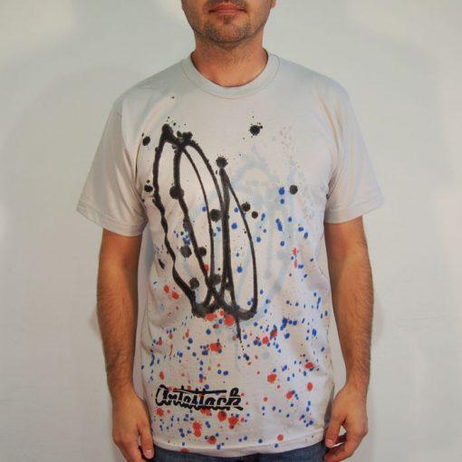 Sivé Streetart tričko #6 (veľkosť M)