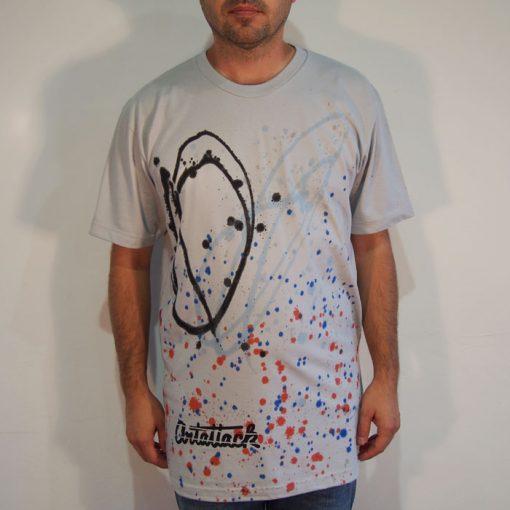 Sivé Streetart tričko #8 (veľkosť L)