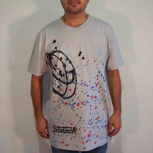 Sivé Streetart tričko #9 (veľkosť L)