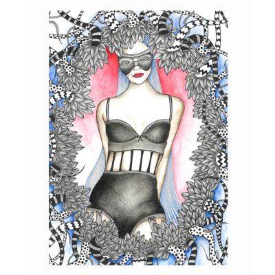 second face to the face katarina branisova illustrations grafika