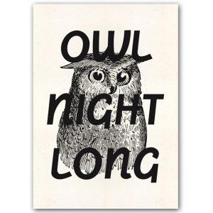 Owl Night Long - Popular / plagát
