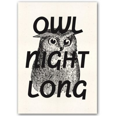 Owl Night Long - Popular / plagát