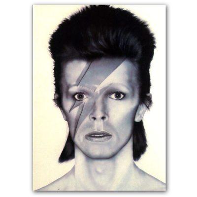 Abstraktné Stavy pohľadnica - David Bowie