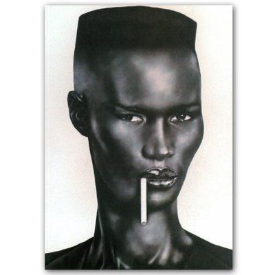 Abstraktné Stavy pohľadnica - Grace Jones