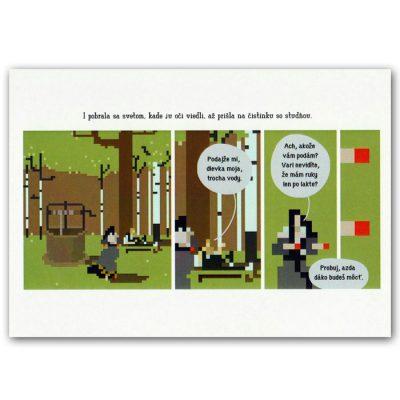 Pomimo komiks pohľadnica - ilustrácia Eva Ondová