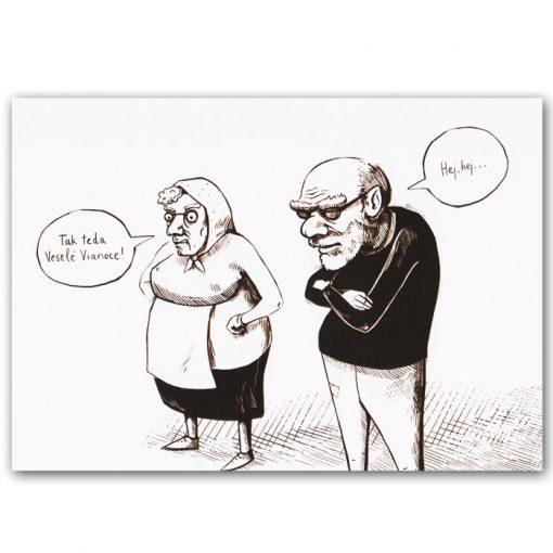 Pomimo komiks pohľadnica - ilustrácia Katarína Dudášová