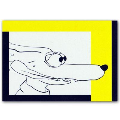 Pomimo komiks pohľadnica - ilustrácia Klára Štefanovičová