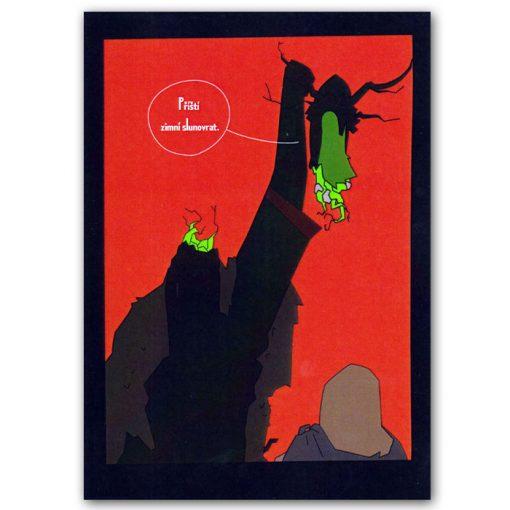 Pomimo komiks pohľadnica - ilustrácia Lukáš Komárek