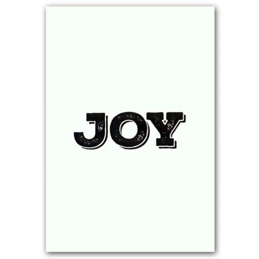 Joy - letterpress pohľadnica Pressink