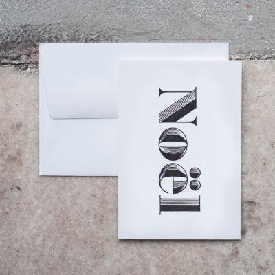 Noël - letterpress pohľadnica Pressink