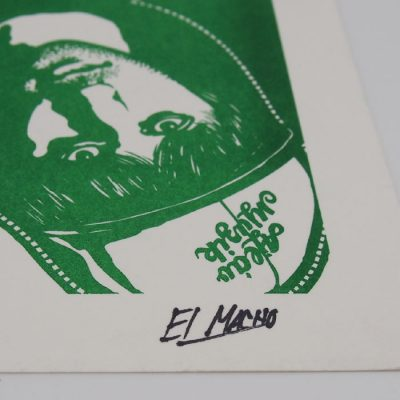 Podlaseba - El Macho - zelená / grafika