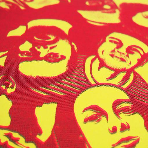 Podlaseba - El Macho - žlto červená / grafika
