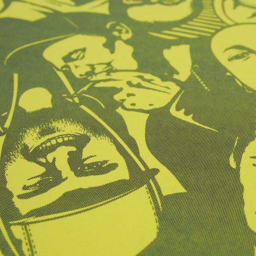 Podlaseba - El Macho - žlto sivá / grafika