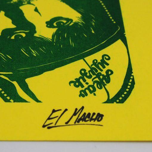 Podlaseba - El Macho - žlto zelená / grafika