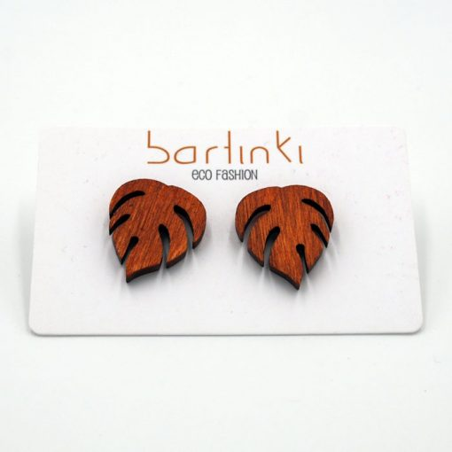 Náušnice Monstera - malé oranžové / Bartinki