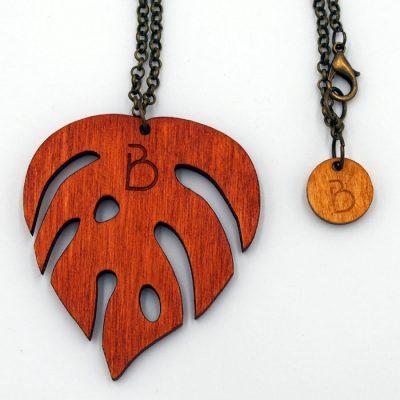 Prívesok Monstera - oranžový / Bartinki