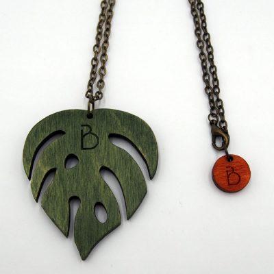 Prívesok Monstera - zelený / Bartinki