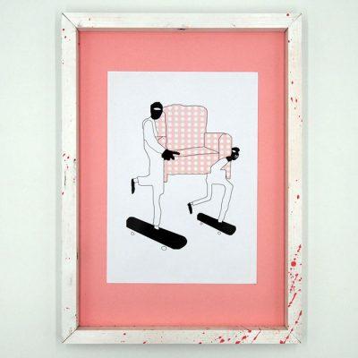 Basquiat - Pangea Boards / grafika v ráme