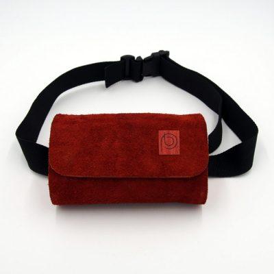 Ľadvinka z recyklovanej kože červená menšia - Pangea Boards