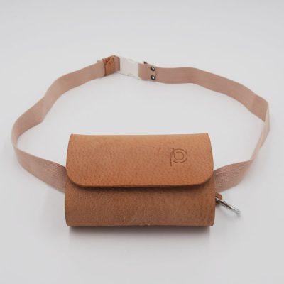 Ľadvinka z recyklovanej kože béžová - Pangea Boards