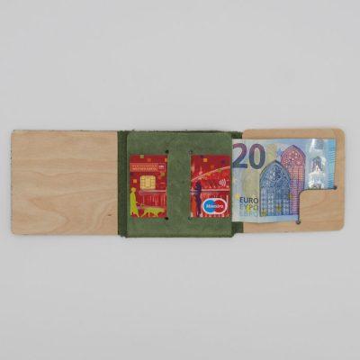 Peňaženka z recyklovanej kože zelená - Pangea Boards