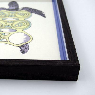 Korytnačka / Plody mora - Pangea Boards / grafika v ráme