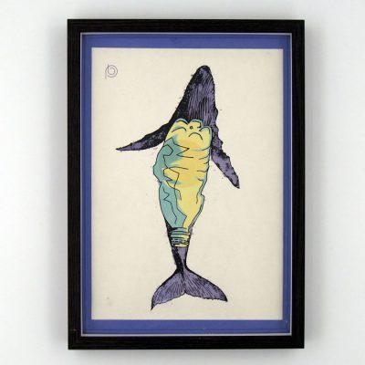 Veľryba / Plody mora - Pangea Boards / grafika v ráme