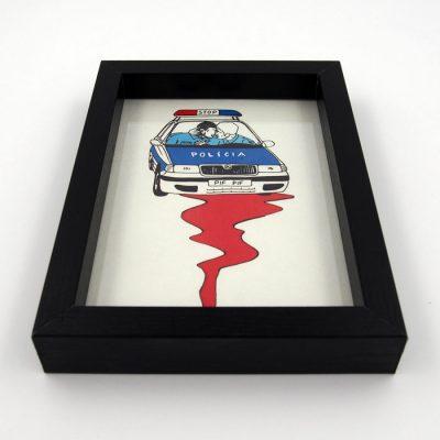 Polícia serie ľudí I. - Pangea Boards / grafika v ráme