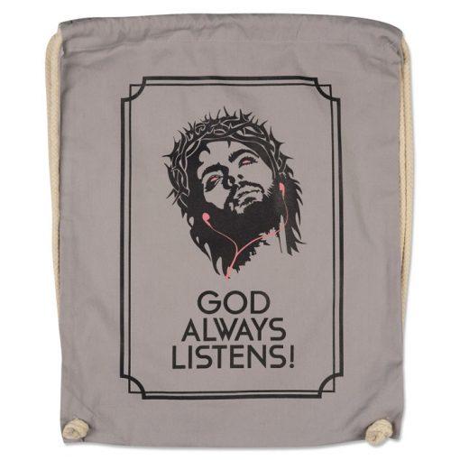God Always Listens! - Popular / plátený vak