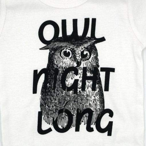 Owl Night Long biele - Popular / detské body
