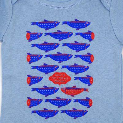 Rybičky modré - Popular / detské body
