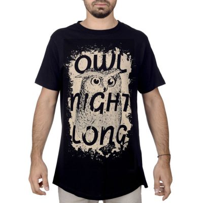 92335274663 Owl Night Long - Popular   Unisex tričko