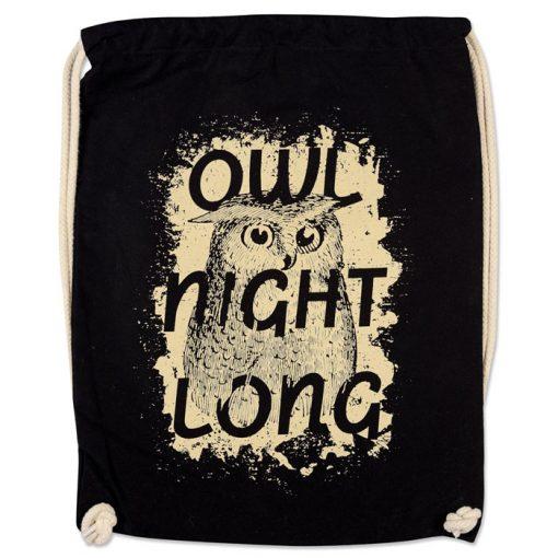 Owl Nigth Long - Popular / plátený vak
