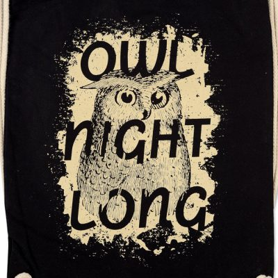 Owl Nigth Long - Popular / plátený vak