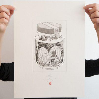 Nakladaný hermelín - Jozef Gľaba / grafika