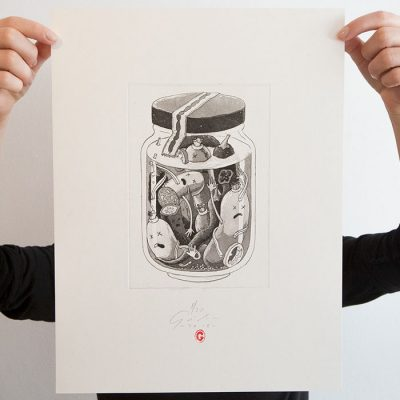 Utopenci - Jozef Gľaba / grafika
