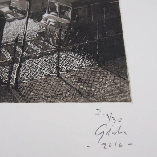 Železnica II. - Jozef Gľaba / grafika