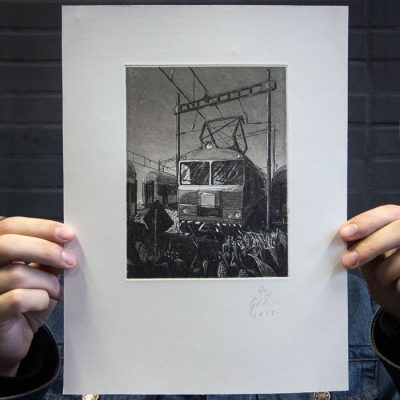 Železnica IV. - Jozef Gľaba / grafika