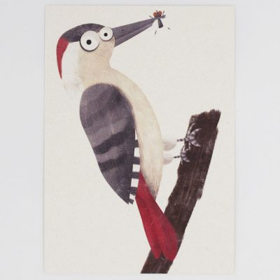 Ďateľ - Hedviga Gutierrez / pohľadnica