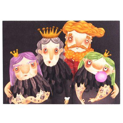 Rodinka - Hedviga Gutierrez / pohľadnica