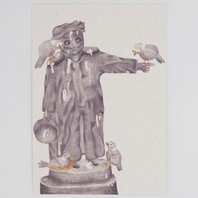 Socha - Hedviga Gutierrez / pohľadnica