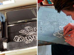Vyrezať, nafarbiť a odtlačiť – umelecká technika linoryt