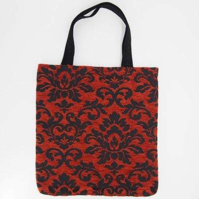 Veľká taška z červenej vzorovanej látky / Bartinki