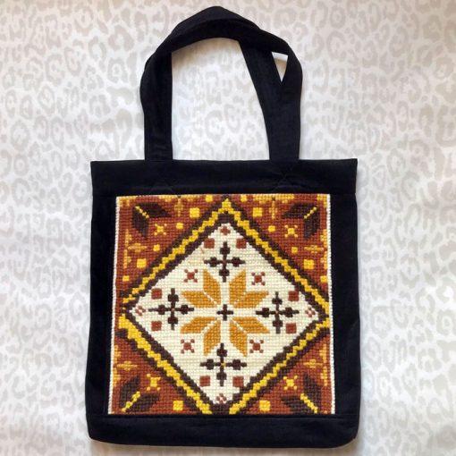 Veľká taška Ikat s výšivkou / Bartinki