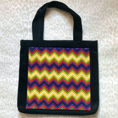 Veľká taška Zig Zag s výšivkou / Bartinki