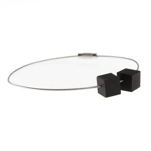 Cubes čierny - BetonBasic / náramok