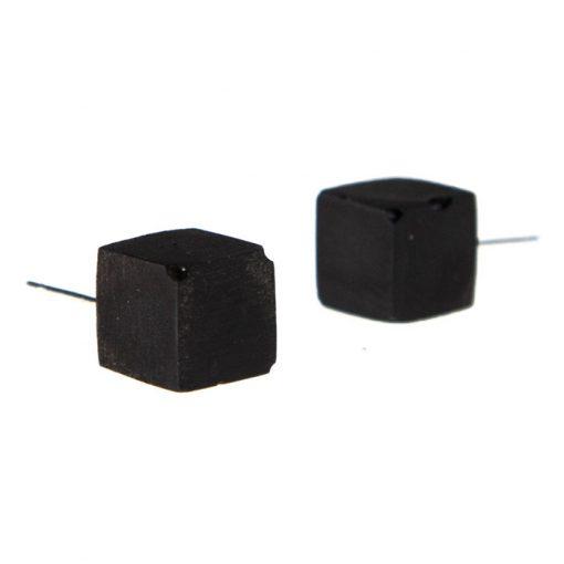 Cubes čierne - BetonBasic / náušnice