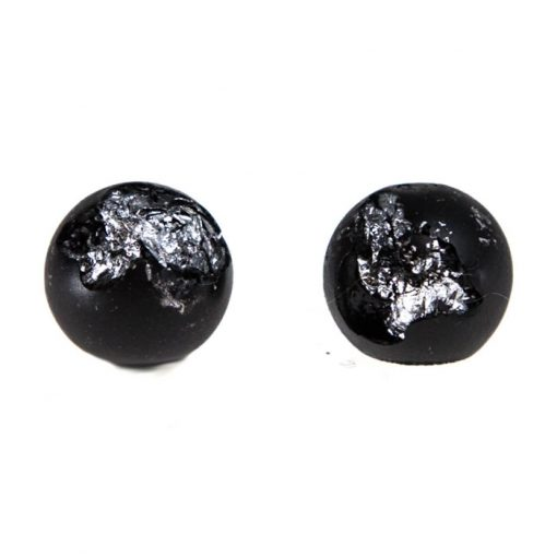 Shine čierne strieborné - BetonBasic / náušnice