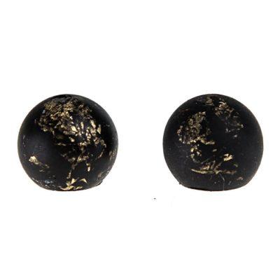Shine čierne zlaté - BetonBasic / náušnice