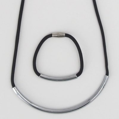 Rope tmavo sivý / set náhrdelník a náramok